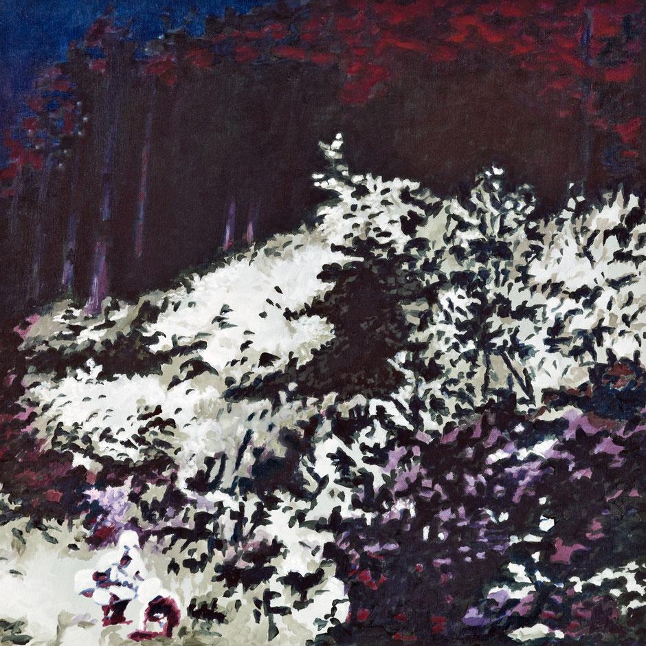 Lichtung | 2020 | Öl auf L einwand | 50 × 50 cm