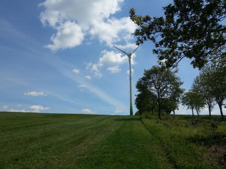die Windräder (neue Landmarke) sind erreicht