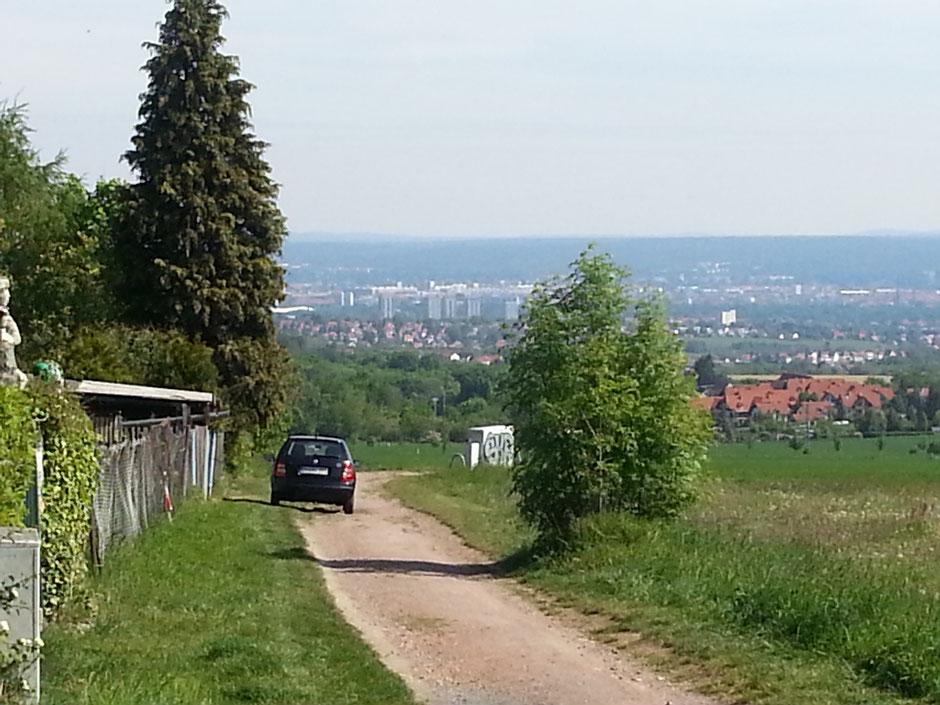 von der Goldenen Höhe nach Dresden und zum Keulenberg