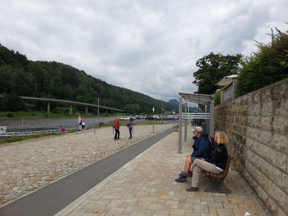 Beginn der Wanderung in Bad Schandau