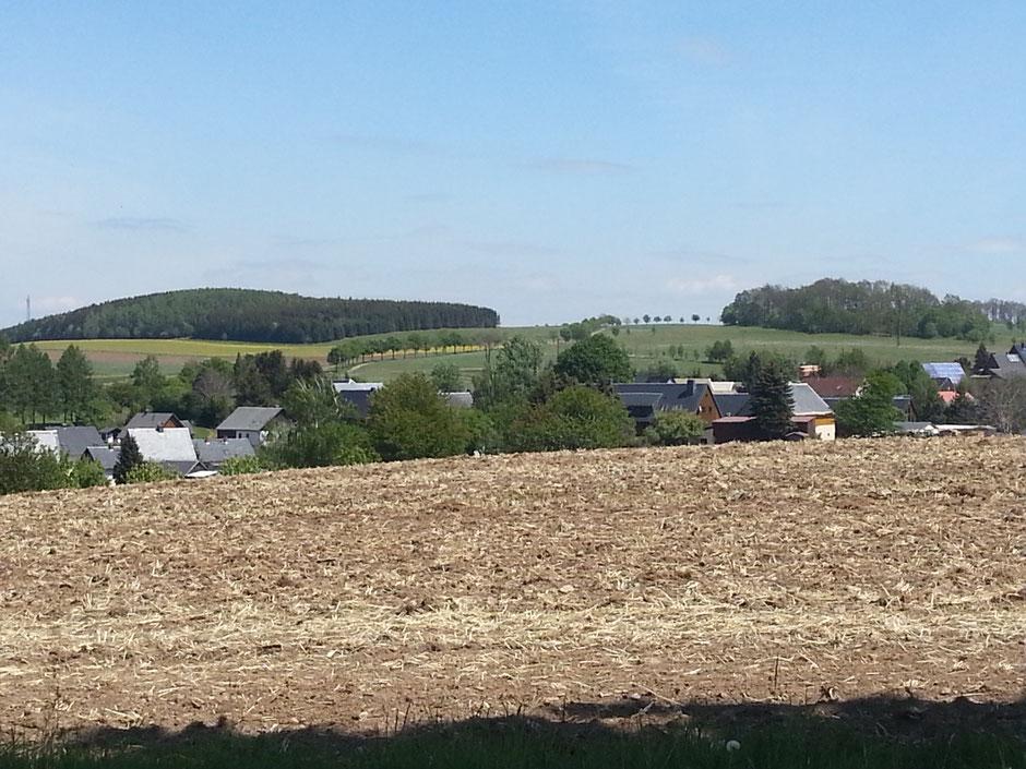 hinter Hardtmannsdorf mit Rückblick zur Überschreitung