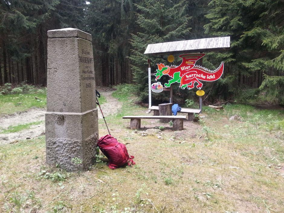 """Kannelberg, 805,4 m, einer von 14 """"Achttausender"""""""