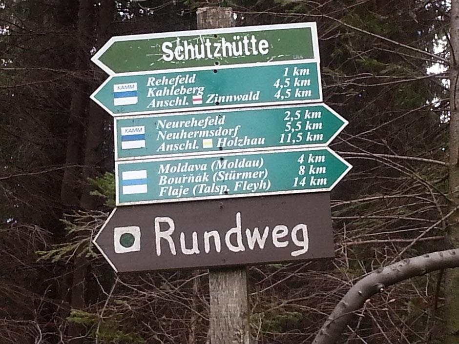 ab Neuhermsdorf immer dem Kammweg folgen
