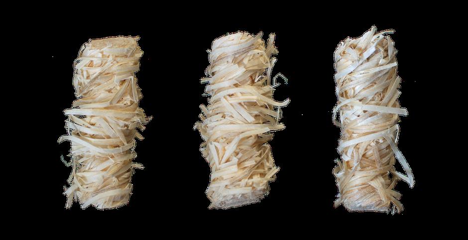Mayko-Feuer – Bioanzünder – Zündling – Anzünder aus Holzwolle und natürlichem Wachs – Kaminanzünder – Grillanzünder