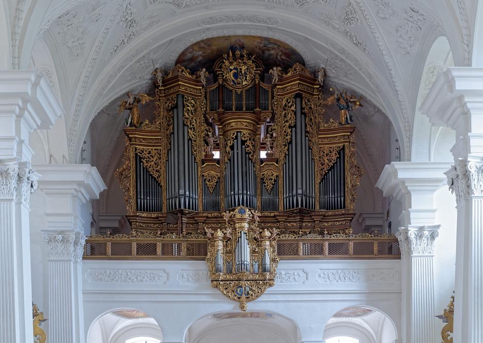 Hauptorgel (1715) der Klosterkirche, © Roland Mosimann