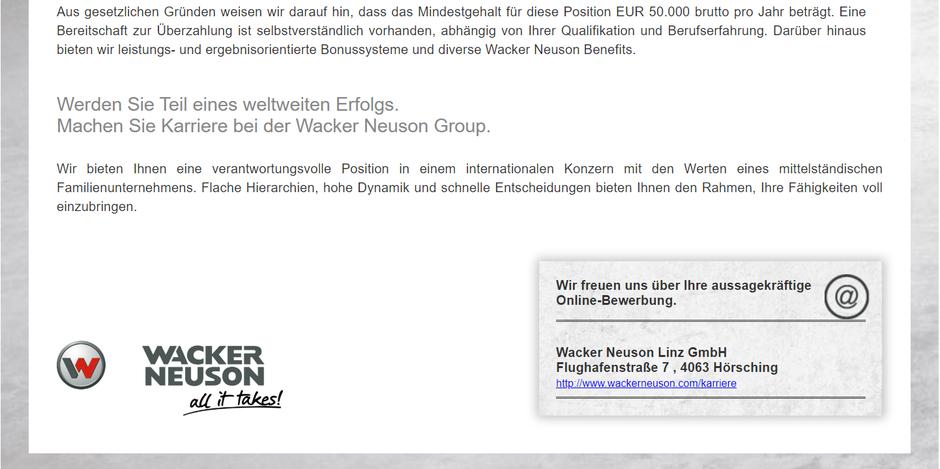 Software Developer Jobs - Senior Softwareentwickler- Wacker Neuson - Linz - Oberösterreich - 1-1-1