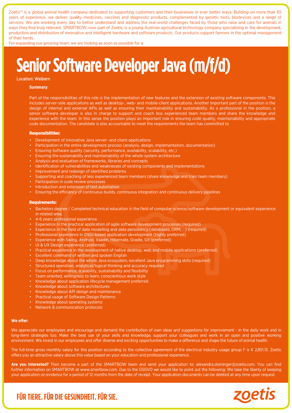 Software Developer Jobs - Senior Software Developer Java - Smartbow GmbH - Weibern - Oberösterreich - 1