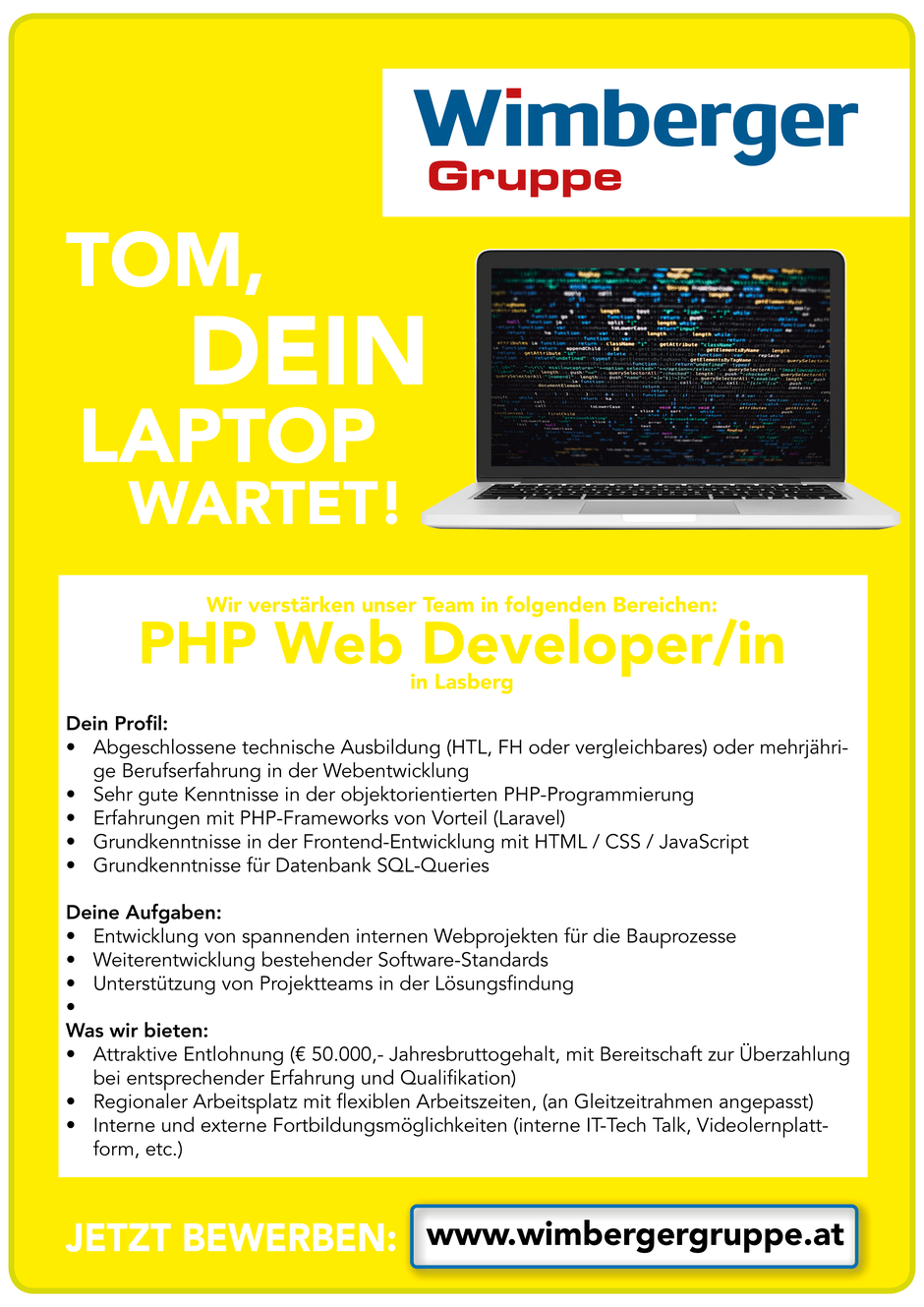 Software Developer Jobs - PHP Web Developer - Wimberger Gruppe - Lasberg - Oberösterreich - 1