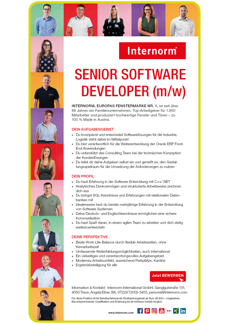 Software Developer Jobs - Senior Software Developer - Internorm - Traun - Oberösterreich -1