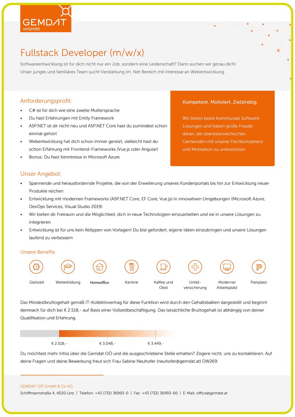 Software Developer Jobs - Fullstack Developer - Gemdat Oberösterreich - Linz - Oberösterreich - 1