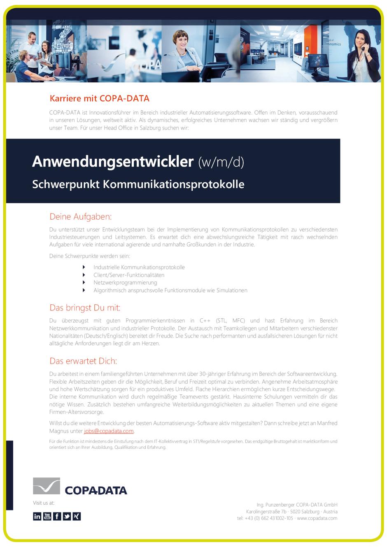 Software Developer Jobs - Anwendungsentwickler - Copa-Data - Salzburg-1