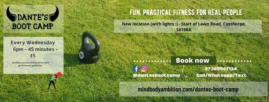 Dante's Boot Camp - Wednesday 6pm