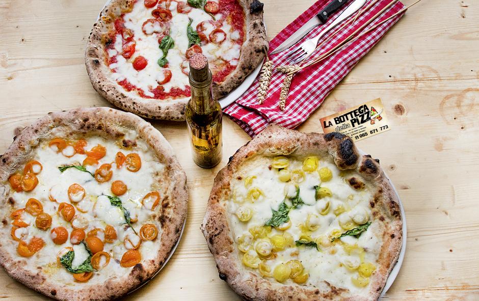 la bottega della pizza, pizzeria à casteau, soignies, à proximité du shape, maisières, nimy, mons, hainaut, en belgique, la vraie pizza italienne, élue meilleure pizzeria de la région, par foodprint.