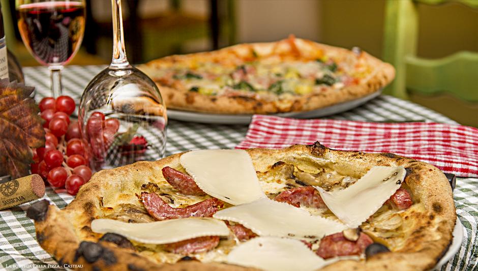 Pizza Trevisana (pizza spéciale) La Bottega Della Pizza à chaussée de Bruxelles 90 Casteau, les meilleures pizzas de la régions