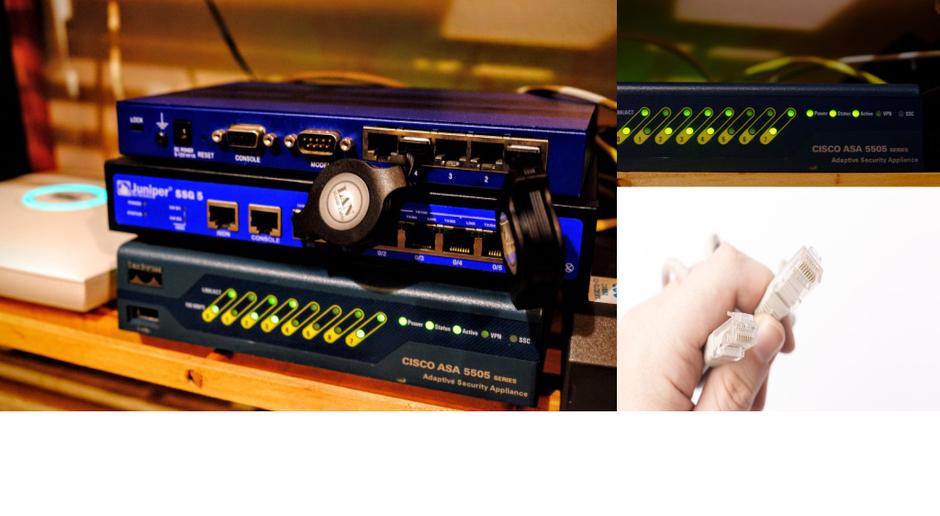 ネットワーク機器とLANケーブル