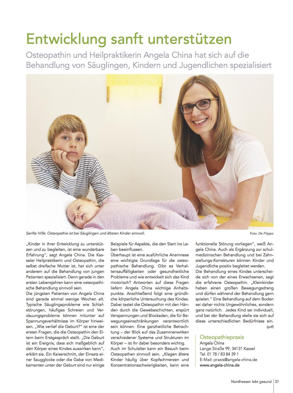 Entwicklung sanft unterstützen – Osteopathie für Säuglinge, Kinder und Jugendliche