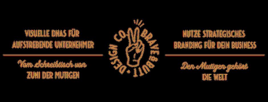 Banner: Visuelle DNAs für Unternehmer & Blogger von Zuni der Mutigen - Strategisches Branding für dein Business: BRAVEANDBUTT.COM