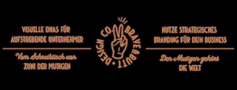 Banner Visuelle DNAs für Unternehmer & Blogger von Zuni der Mutigen - Strategisches Branding für dein Business: BRAVEANDBUTT.COM