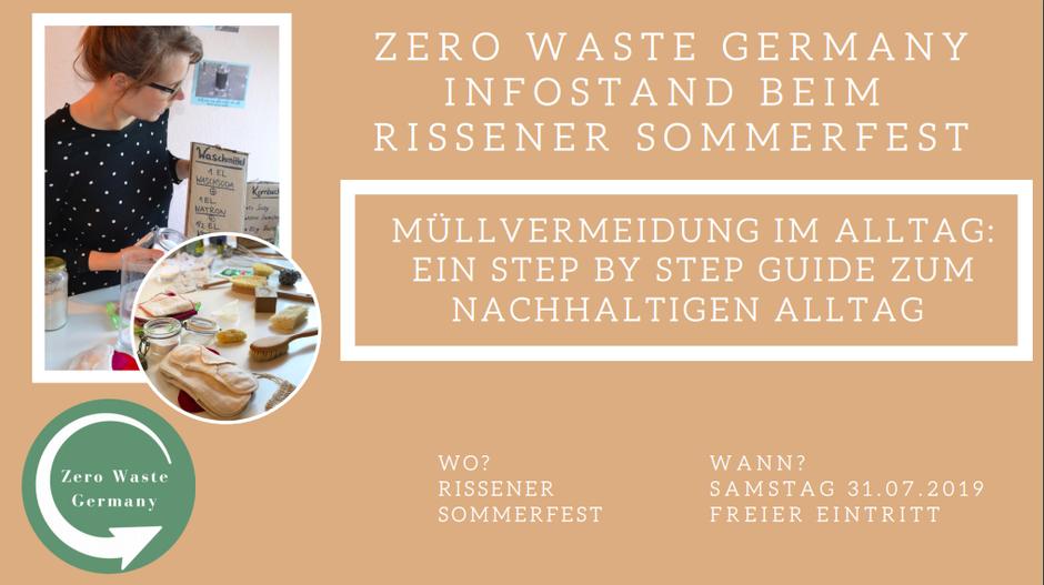 Zero Waste Germany Infostand Nachhaltigkeit - Rissener Sommerfest - Marlena Sdrenka
