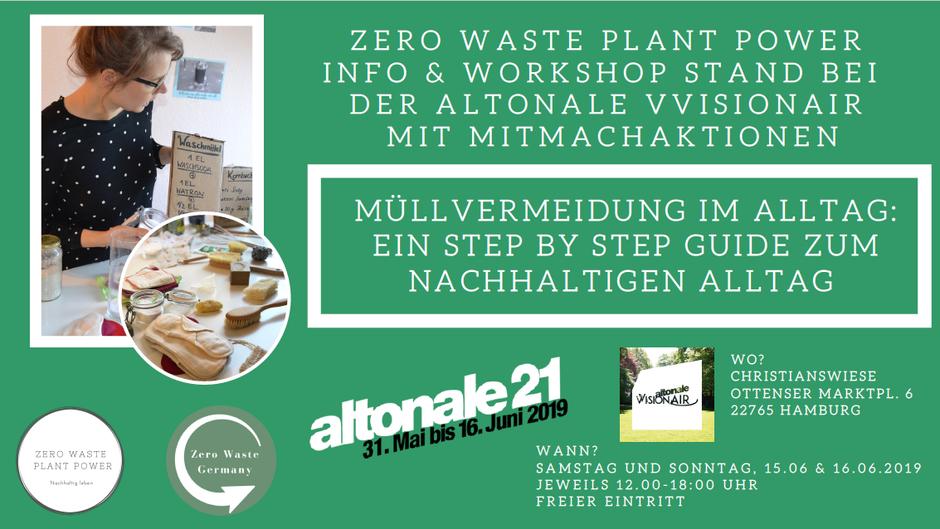Zero Waste Plant Power bei der Altonale VVisionAir in Hamburg - Nachhaltigkeitsworkshop und Infostand