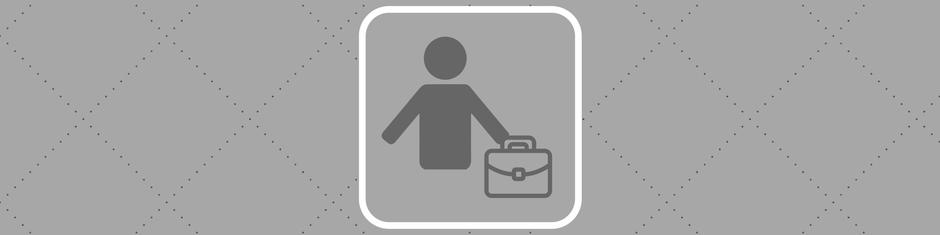 Signet für die Vorteile von Cribin für Gäste, Männchen mit Koffer