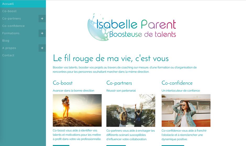 Découvrir le nouveau site d'Isabelle sur https://www.isabelleparent.be