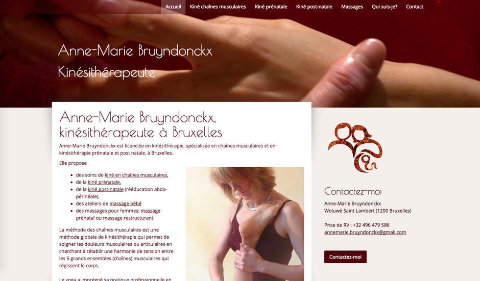 Le nouveau site d'Anne-Marie Bruyndonckx