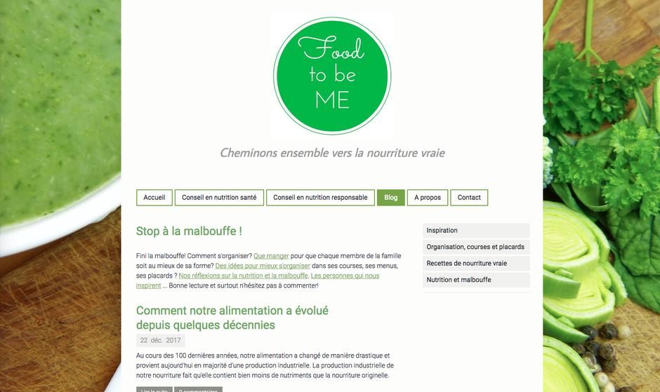 """Le site après """"nettoyage"""" et réorganisation de la navigation"""