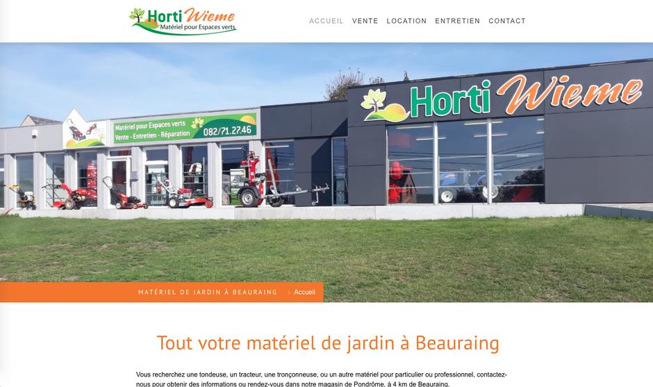 Le nouveau site d'Horti Wieme créé avec Jimdo (design Rome)