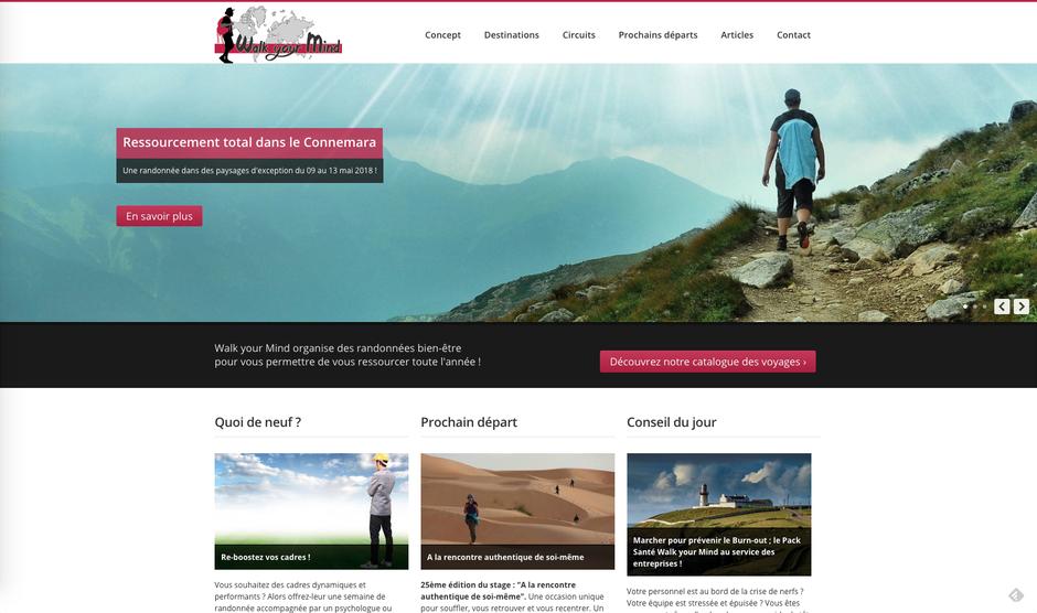 L'ancien site de Walk Your Mind développé par un informaticien