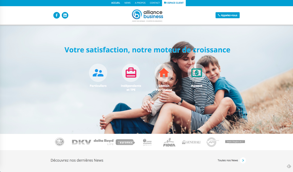 L'ancien site d'Alliance Business