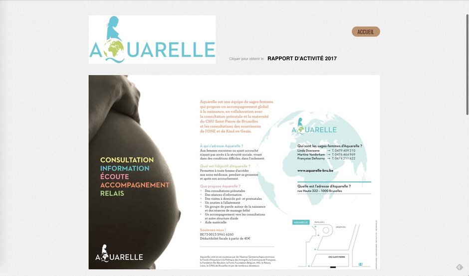 L'ancien site d'Aquarelle (Joomla)