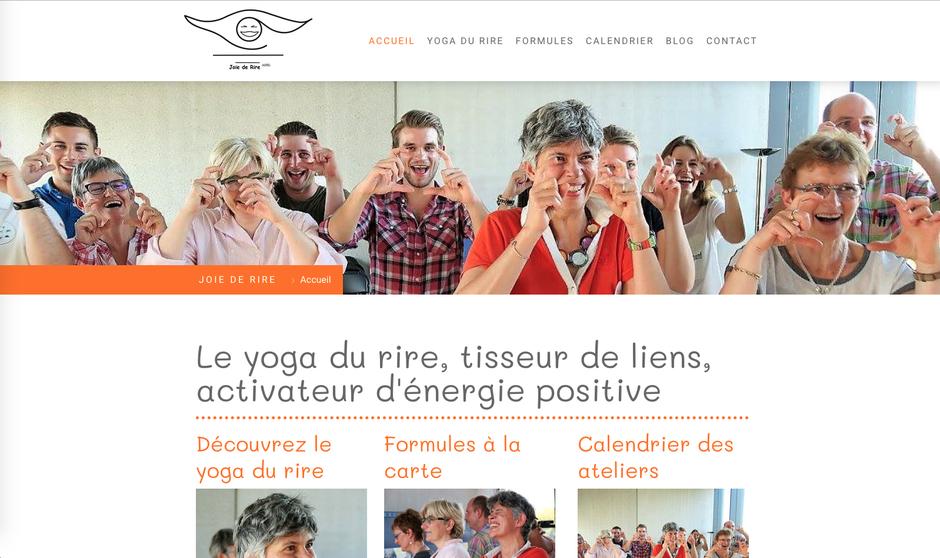 Le nouveau site de Joie de Rire (design Rome)