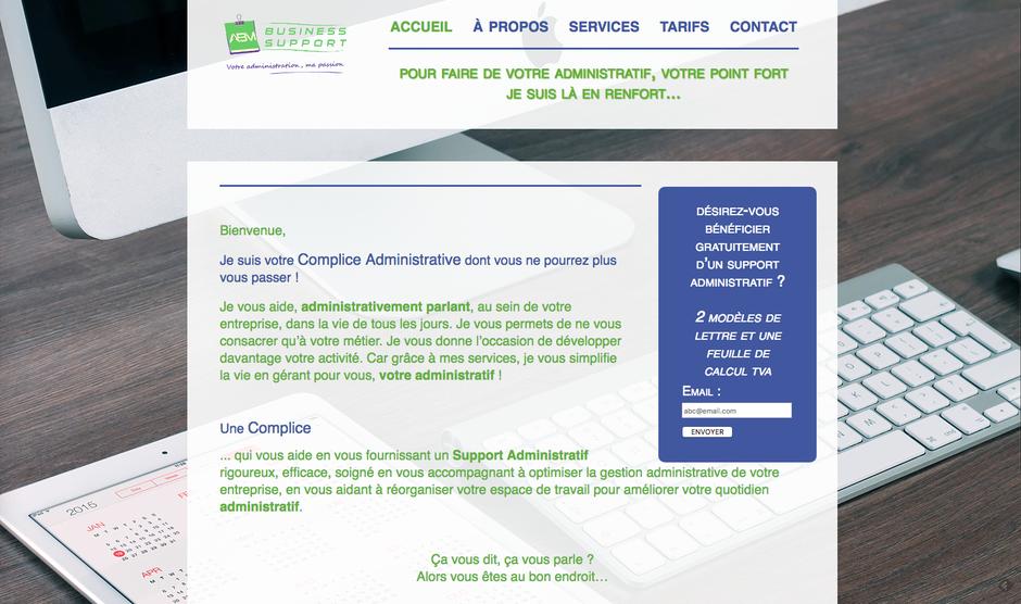 L'ancien site d'ABM Business Support en HTML
