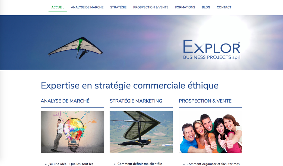 Le nouveau site d'Explor créé en 4h30 avec Jimdo
