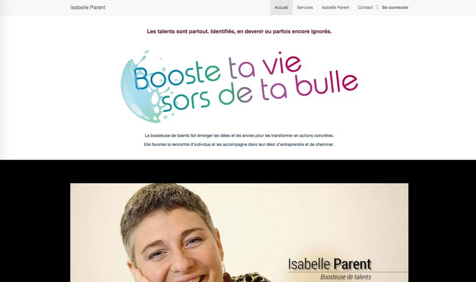 Le site d'Isabelle dans Odoo
