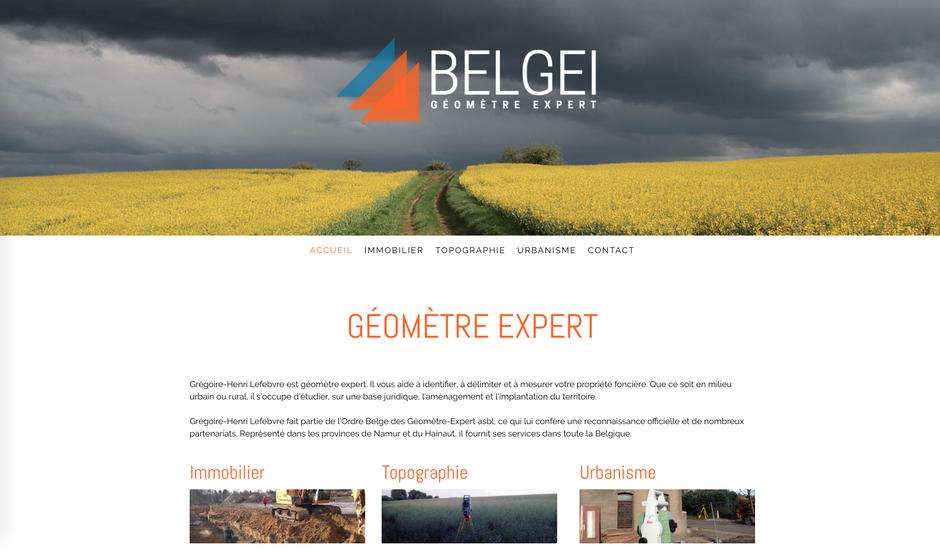Le nouveau site de Belgei créé avec Jimdo (design Zurich)