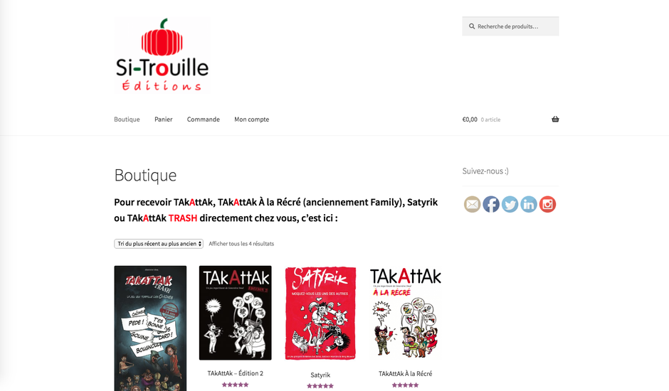 L'ancien e-shop de Si-Trouille (WooCommerce)