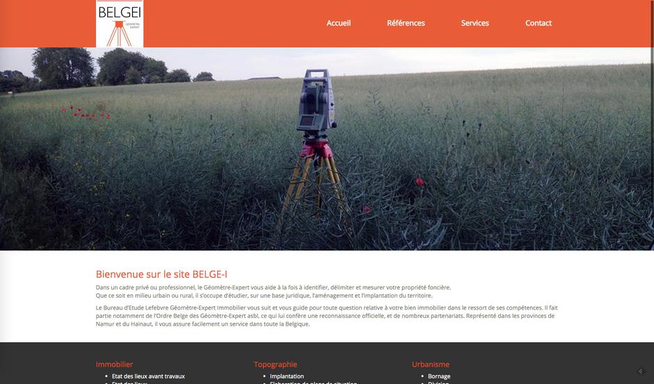 L'ancien site de Belgei créé par une agence