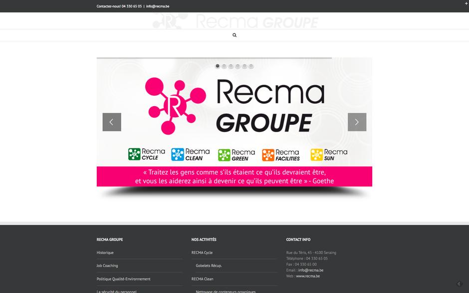 L'ancien site de Recma (Wordpress)