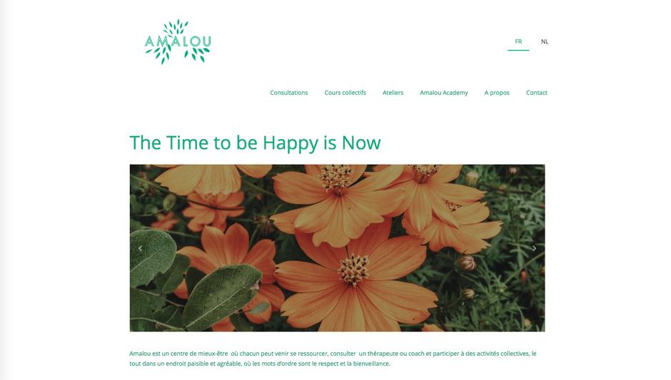 Le nouveau site d'Amalou (Jimdo, design Tokyo)