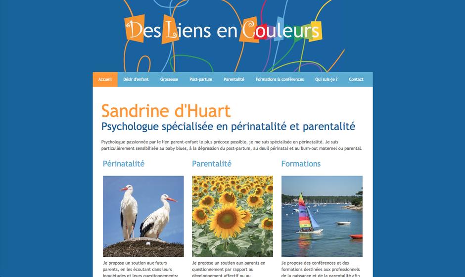 Le nouveau site de Sandrine, créé avec jimdo