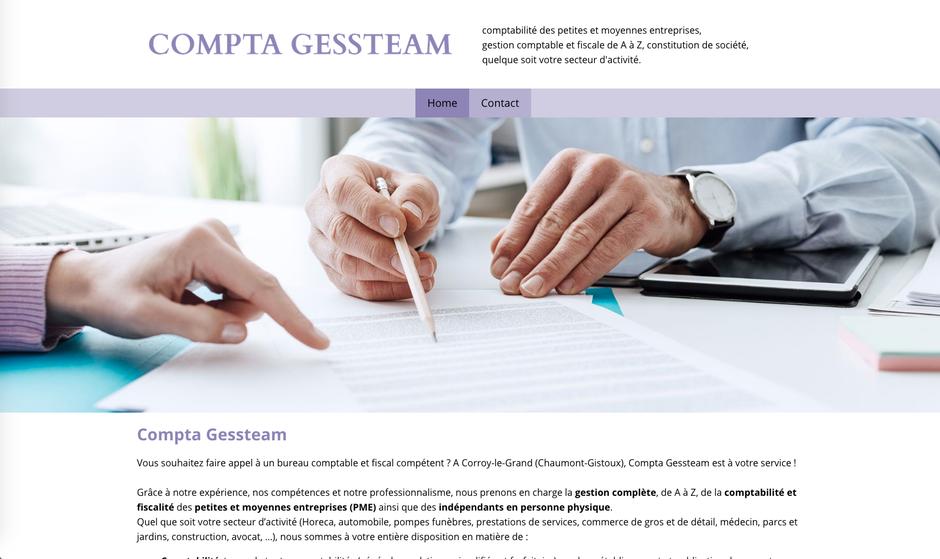 L'ancien site de Gessteam créé par les Pages d'Or