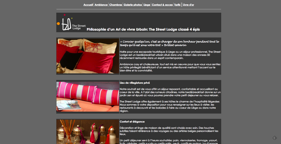 L'ancien site de The Street Lodge (en HTML)