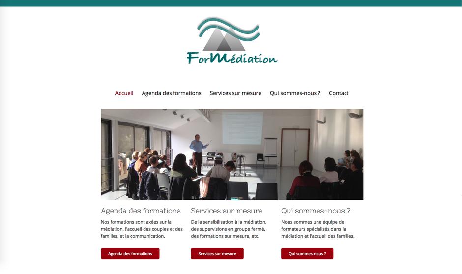 Le nouveau site de ForMédiation