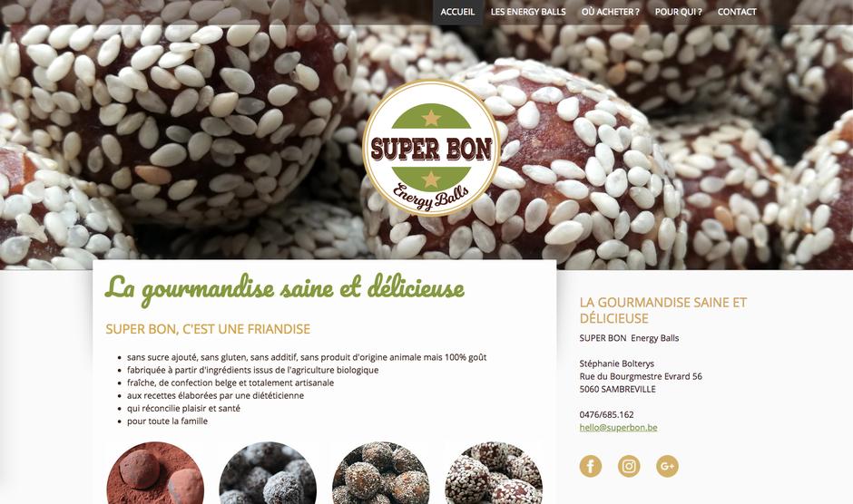 Le nouveau site créé avec Jimdo (design Amsterdam)