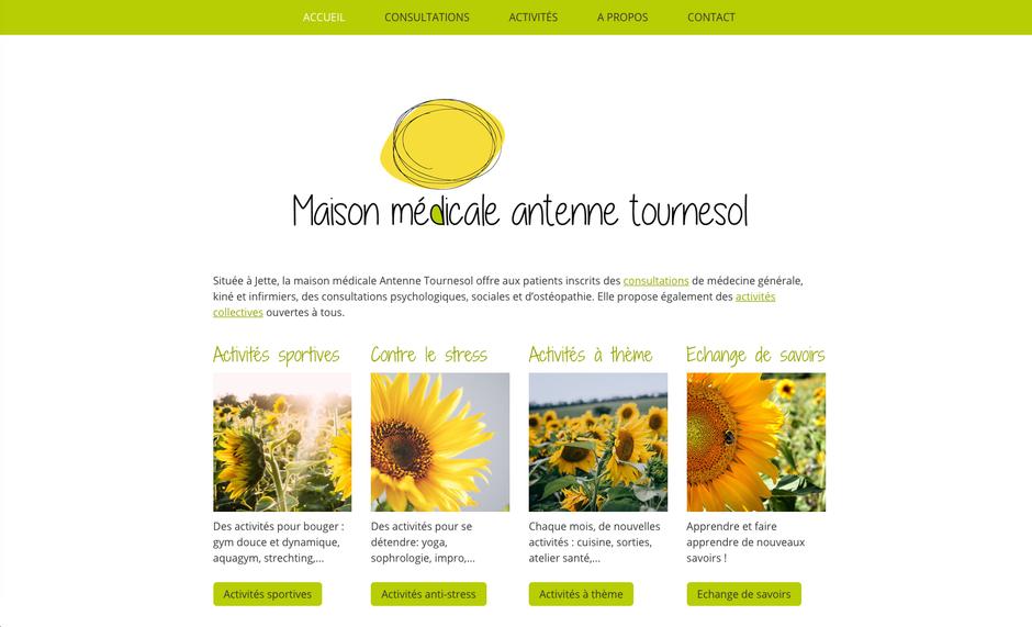 Le nouveau site créé avec Jimdo