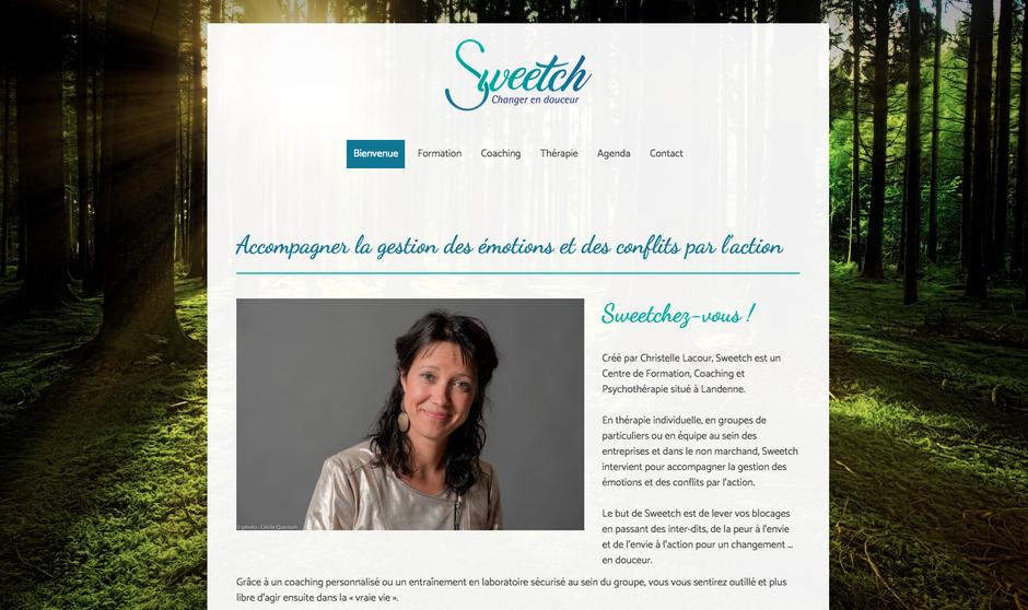 Le nouveau site de Sweetch créé avec Jimdo (design Prague)