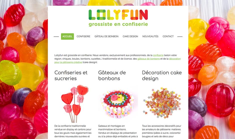 Le site Lolyfun (créé avec Jimdo) dans sa version finale