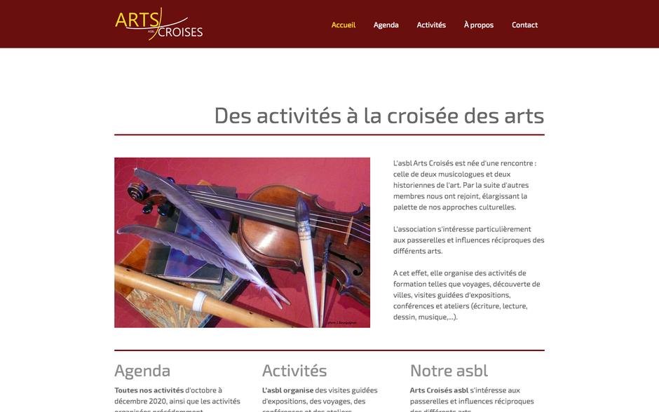 Le nouveau site d'Arts Croisés